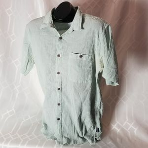 Patagonia organic cotton ss casual shirt men's L